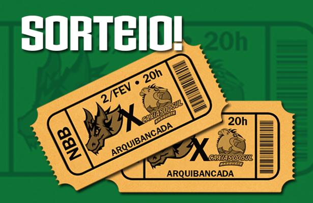 sorteio - ingressos - Bauru x Caxias do Sul