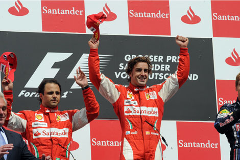 Massa Alonso Fórmula 1 GP Alemanha 2010 Ferrari