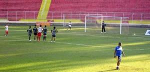 Rafael Aidar pênalti Noroeste jogo treino Copa Paulista 2010 futebol