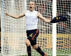 Iniesta gol título Copa do Mundo Fifa 2010 futebol