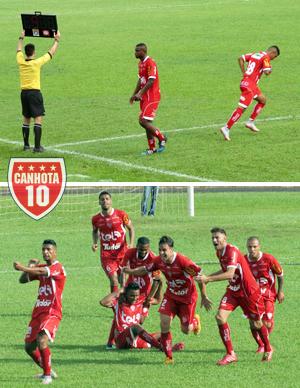 Vitor Visa entra no lugar de Marcão aos 24; 20 minutos depois, ele celebra seu gol