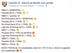 final do NBB retrospecto Bauru
