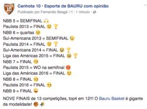 final do NBB retrospecto Bauru